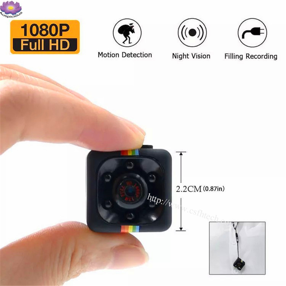 Hot selling 2019 Full HD 1080P 360 Degrees Rotation 120 Degree View Lens  Motion Detection CCTV Hidden Spy Camera SQ11 Mini Action Camera Night Vision Video Recorder Digital Cam Sport Camera Made In China Factory