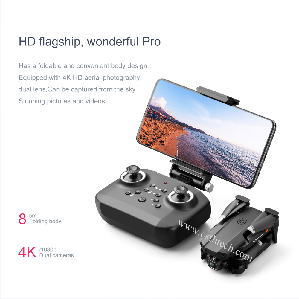FH-XT6 Drone Camera Wireless Wifi Drone Camera 4k HD Drone Camera Mini WiFi FPV with 4K/1080P HD Dual Camera Altitude Hold Mode Foldable RC Drone Quadcopter RTF