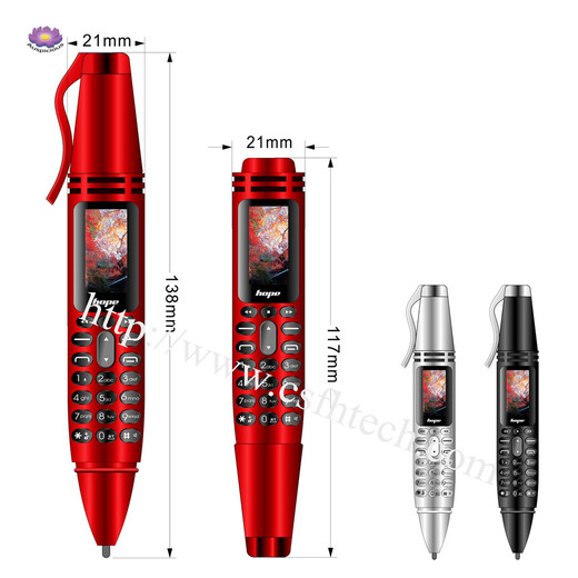 The Best New High Quality Pen Mobile Phone AK007 Pen style dual sim 0.96inch   Tiny Screen Pen mini Mobile phone Dual SIM Card Bluetooth Dialer Cell Mini   phone with Flashlight Recording Pen Made In China Factory
