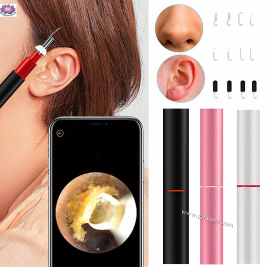 The Best Quality 3.9mm HD Wireless Smart Visual Cold Light Ear Endoscope Cleaning Earbuds WIFI Visual Earpick Spoon Otoscope Camera For Ear Nose Made In China Factory
