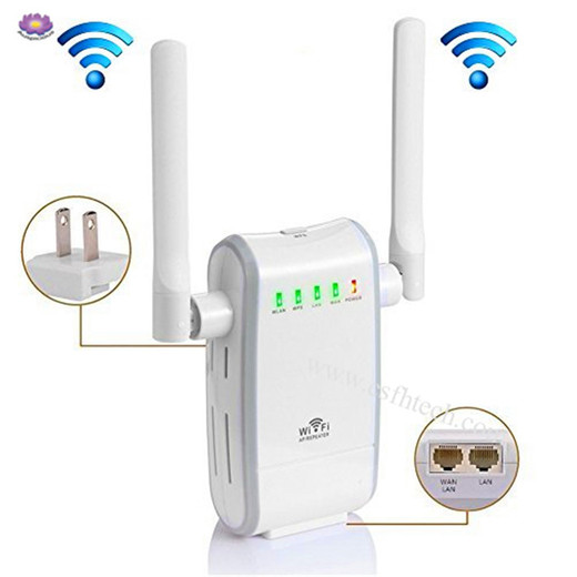 WiFi Range Extender Repeater Wireless Network Signal Booster High-Speed 300Mbps 2.4GHz Wi-Fi Long Amplifier with External Antennas, for Home Office Repeater/Access Point/Router Mode In China