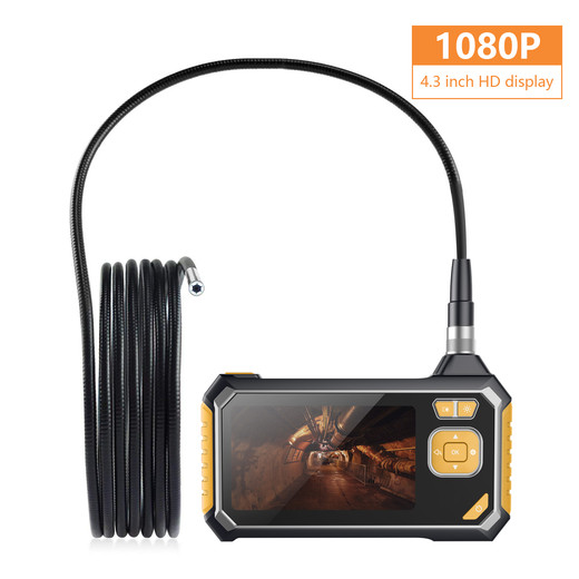 2019 The Best Quality Cheap ROTEK Industrial Endoscope, Inspection Camera 4.3 Inch Color LCD Screen, Semi-rigid Handheld Video Borescope HD1080P with 6 LED, Waterproof Snake Camera with 2600mah Lithium Battery - 5 Meter Made In China Factory