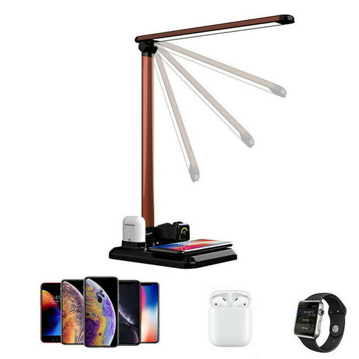 2020 Wholesale The Best New High Quality 4 in 1 LED Table Lamp Light Qi Wireless Fast Charger For iPhone Apple Watch Air Made In China