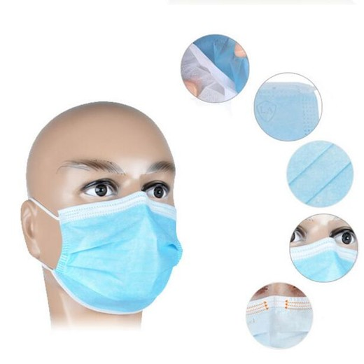 2020 The Best Quality Novel coronavirus pneumonia infection Non-Woven 3ply Protective Mouth Surgical Face Mask