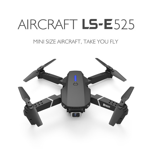 LSRC new RC drone E525 WIFI FPV and wide-angle high-definition 4K dual camera height keep foldable quadrotor dron gift