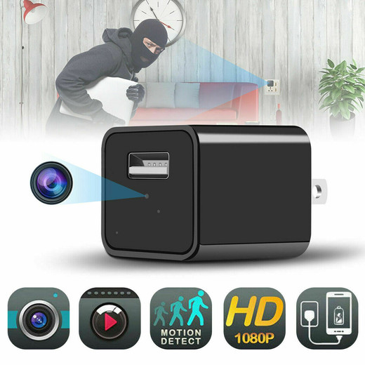 FULL HD 1080P Hidden Camera USB Wall Charger Adapter Video Recorder Security Cam