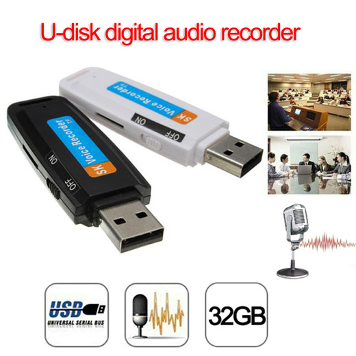High Quality Cheap  U-Disk Digital Audio Voice Recorder Pen USB Flash Drive up to 32GB Micro SD TF Made In China Factory