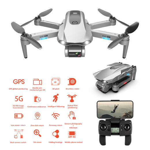 2020 The Best New GPS Drone 5G Professional Aerial Photography 6K Dual Camera Follow Me and Brushless Motor Foldable Quadcopter Drone Made In China Factory