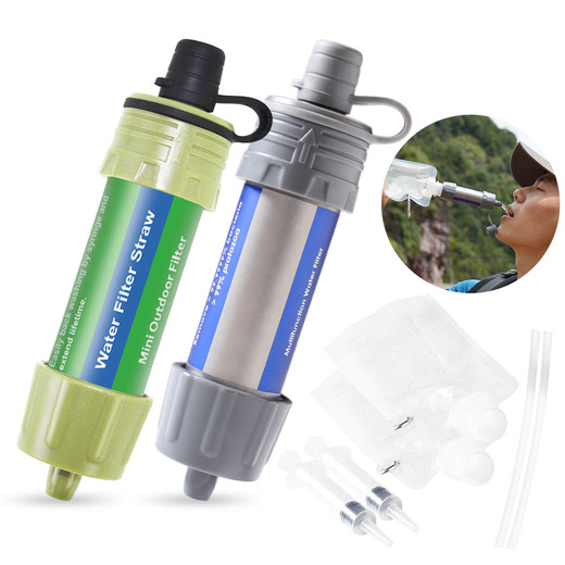 Csfhtech 2PCS/1pc Outdoor Water Filter Straw Water Filtration System Water Purifier for Lightweight compact emergency water filter system