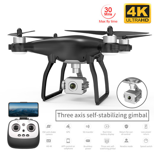Csfhtech X35 Pro GPS Drone with WiFi 4K HD Camera Three-Axis Gimbal Profissional RC Quadcopter Brushless Motor FPV Dron Vs SG906 Pro