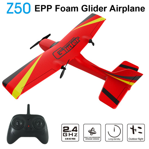 Csfhtech  Z50 RC Plane EPP Foam Glider Airplane Gyro 2.4G 2CH Remote Control Wingspan 25 minutes Flight Time RC Airplanes Toy